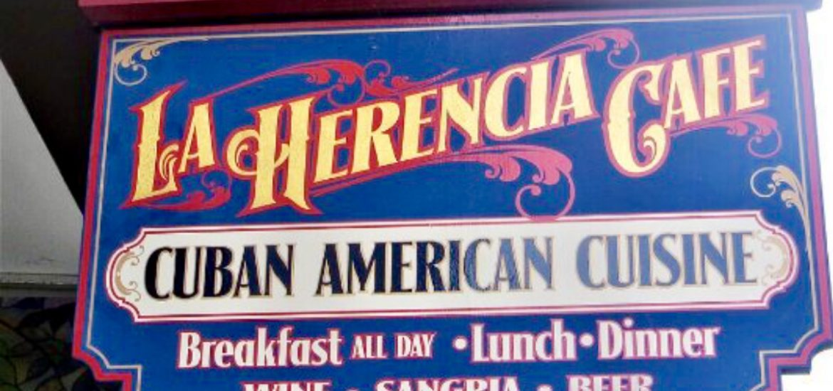 Street Sign La Herencia Cafe St. Augustien Florida