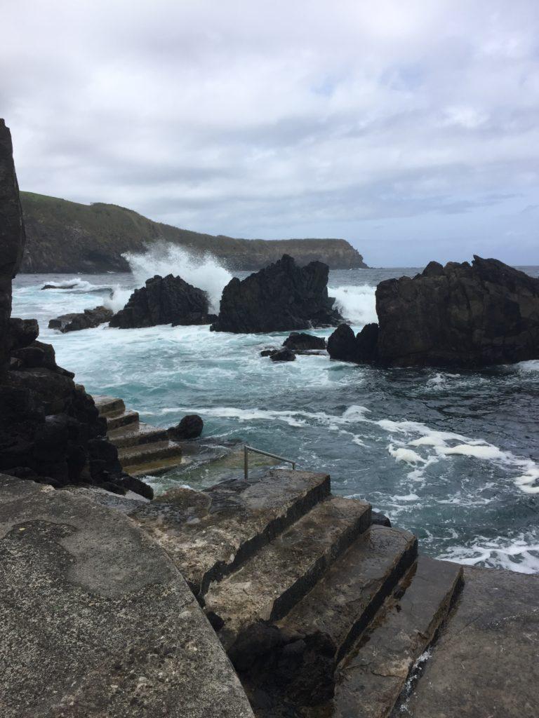 stairway at natural pools