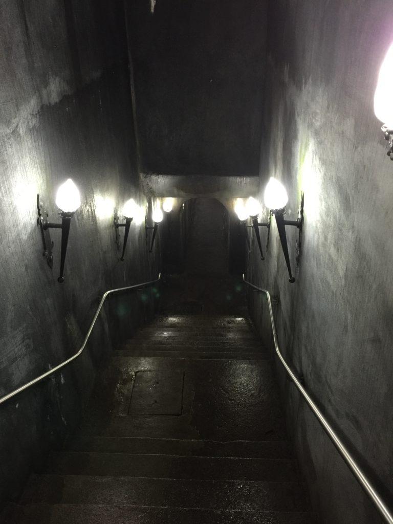 Hallway to Algar do Carvao Cave, Terceira Island, Azores