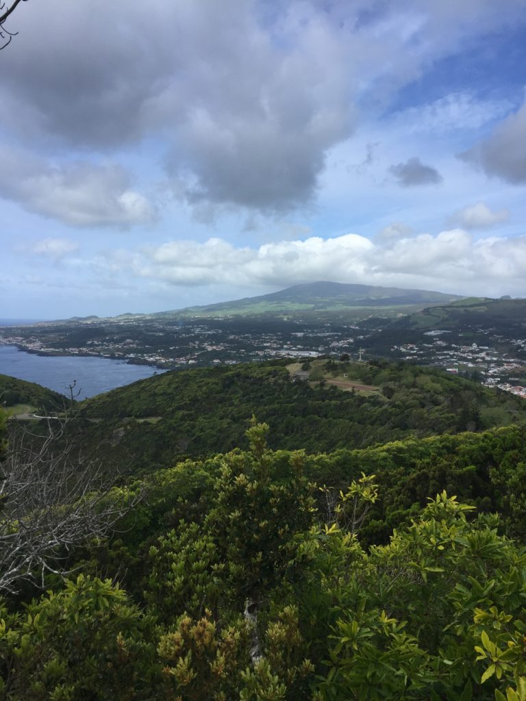View of Anrga do Heroismo from Monte basil, terceira island, azores