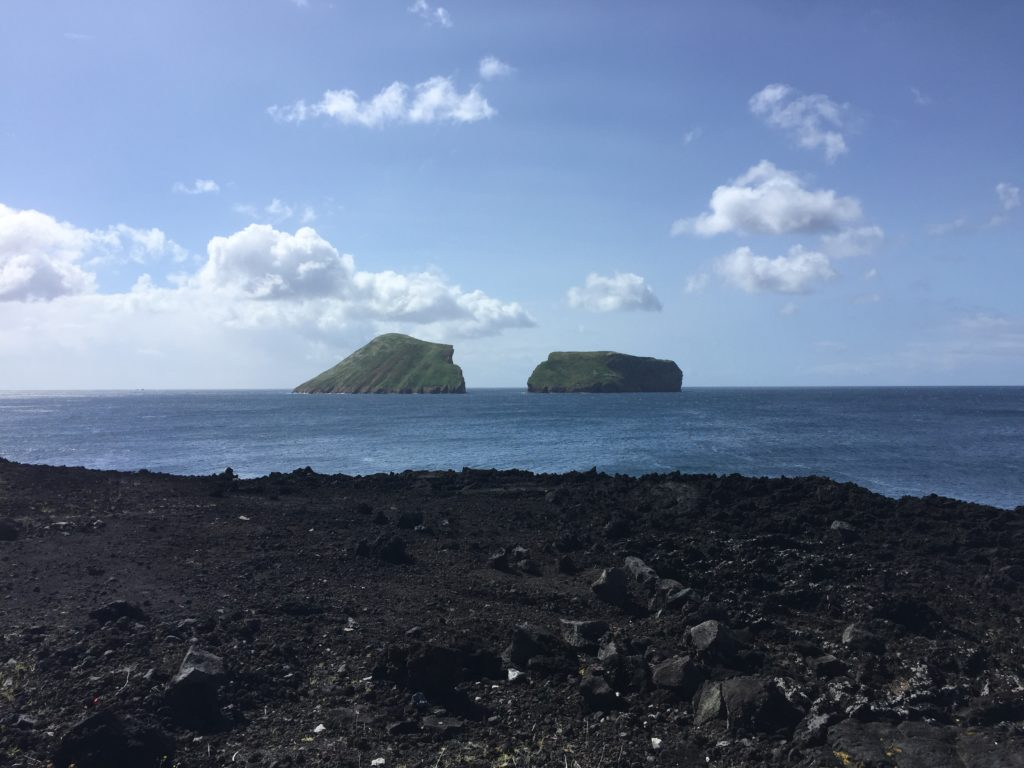 Large Rock Split into two. trekker island, azores