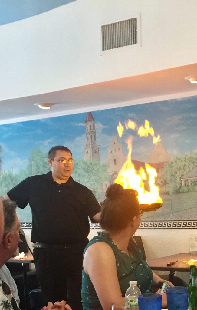 Saganakai Flaming Cheese Athena Restaurant St. Augustine
