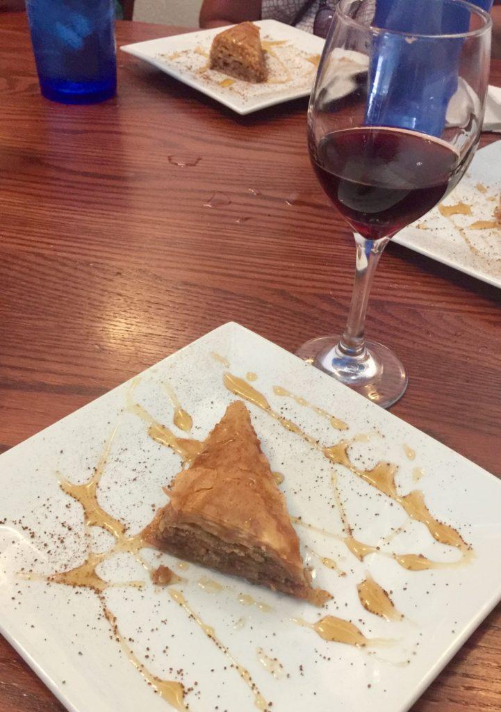 Baklava at Athena Restaurant