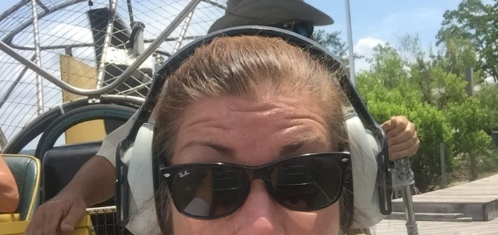 Woman in Airboat Alabama