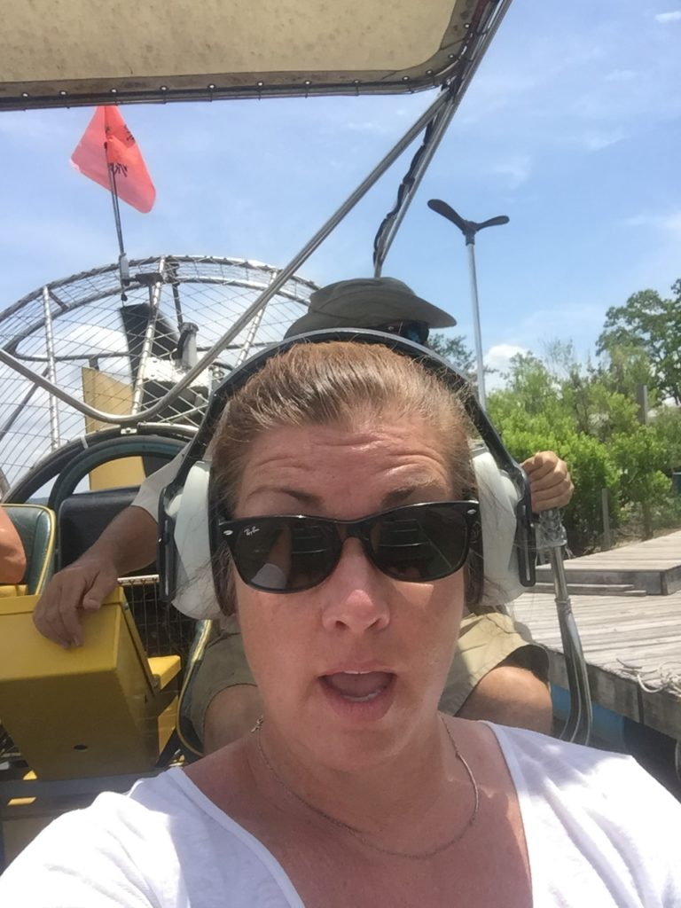 Woman in Air Boat Solo Travel