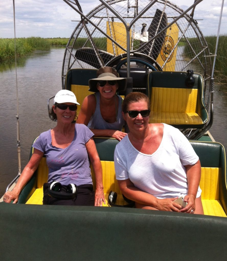 Women in Airboat Mobile Alabama
