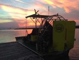Airboat at Dock in Mobile Alabama