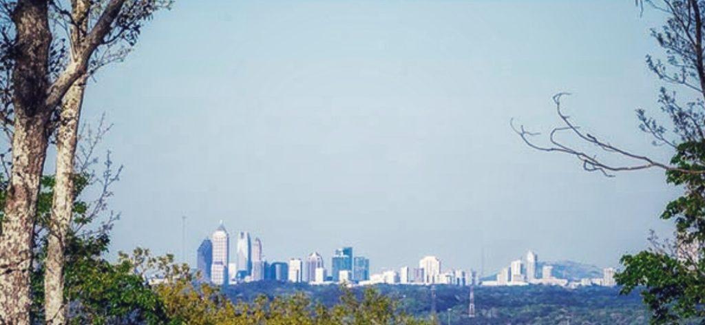 Atlanta Skyline fromSweetwater Creek State Park, Georgia