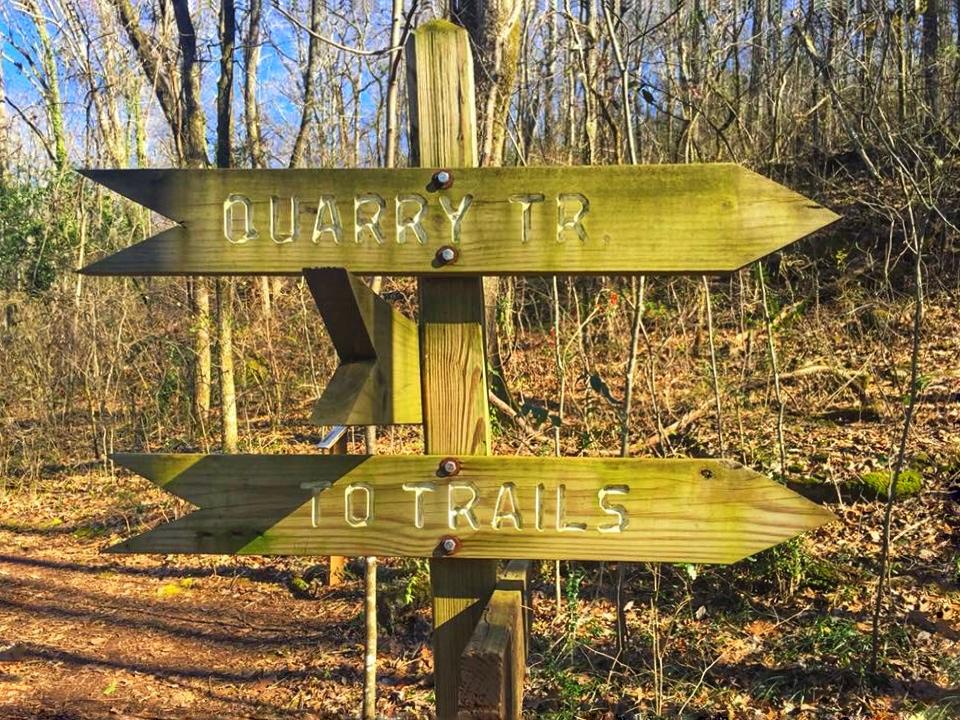 Trail sign at Ruffler mountain, Birmingham AL