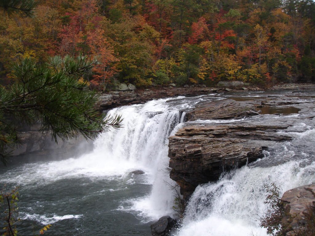 Little River Falls Waterfall, Little river Preserve, Alabama