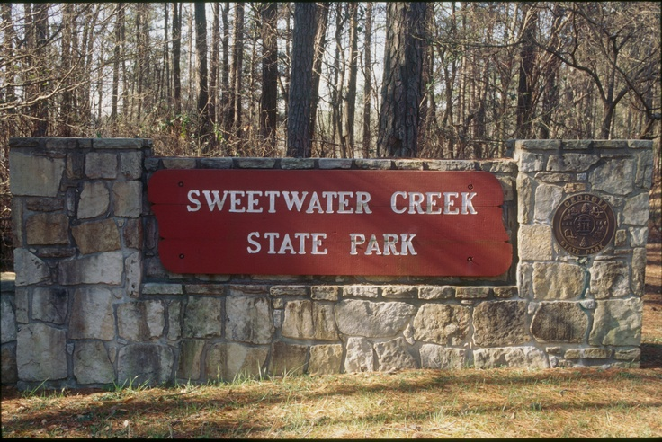 Sweetwater Creek State Park sign, Georgia