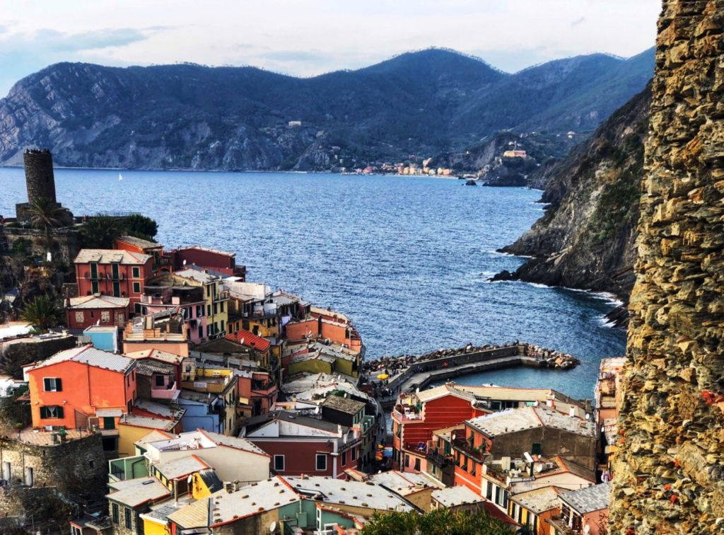 View of Vernazza on Cinque Terre Trail
