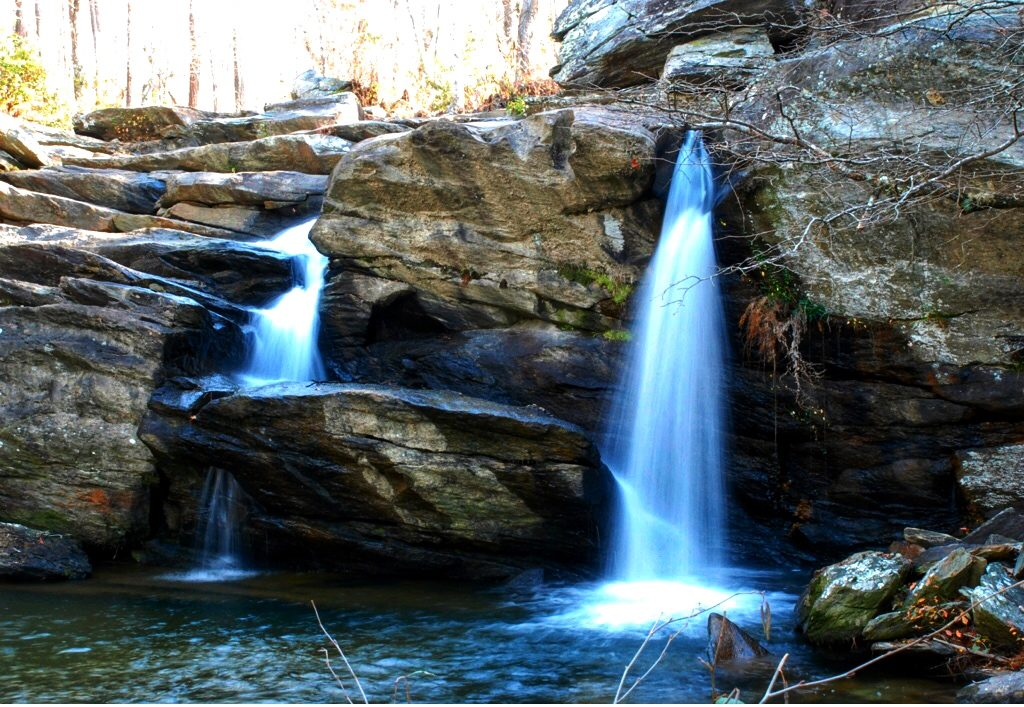 Photo at base of Cheaha Falls, Chinnabee Silent Trail