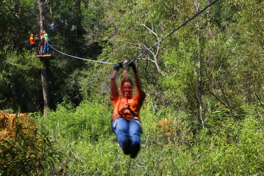 Zipline, Tree Top Adventure, Crystal River, Florida