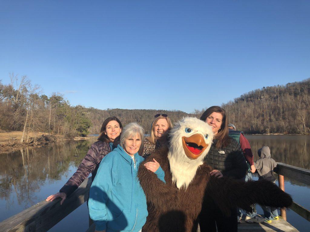 Mascot Gunter, Eagle Awareness, Lake Guntersville