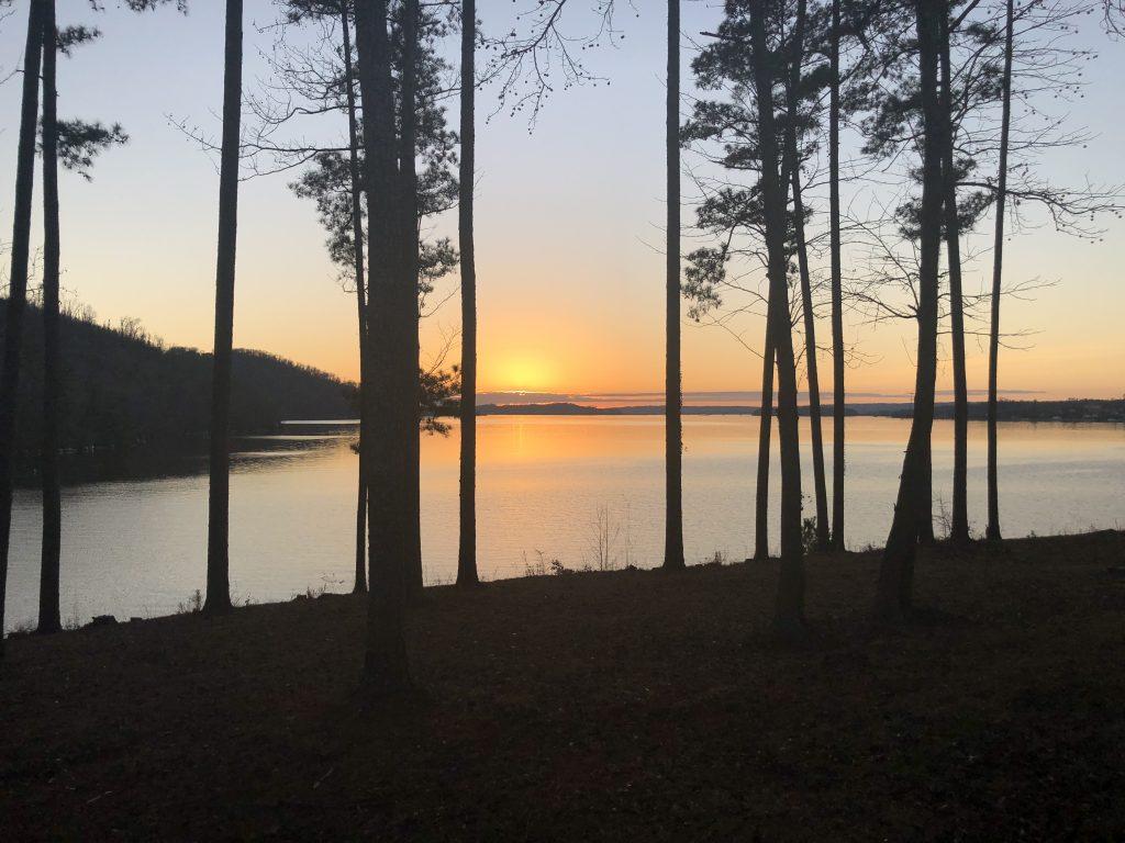 Cabin Vuew Sunset, Lake Guntersville, Alabama