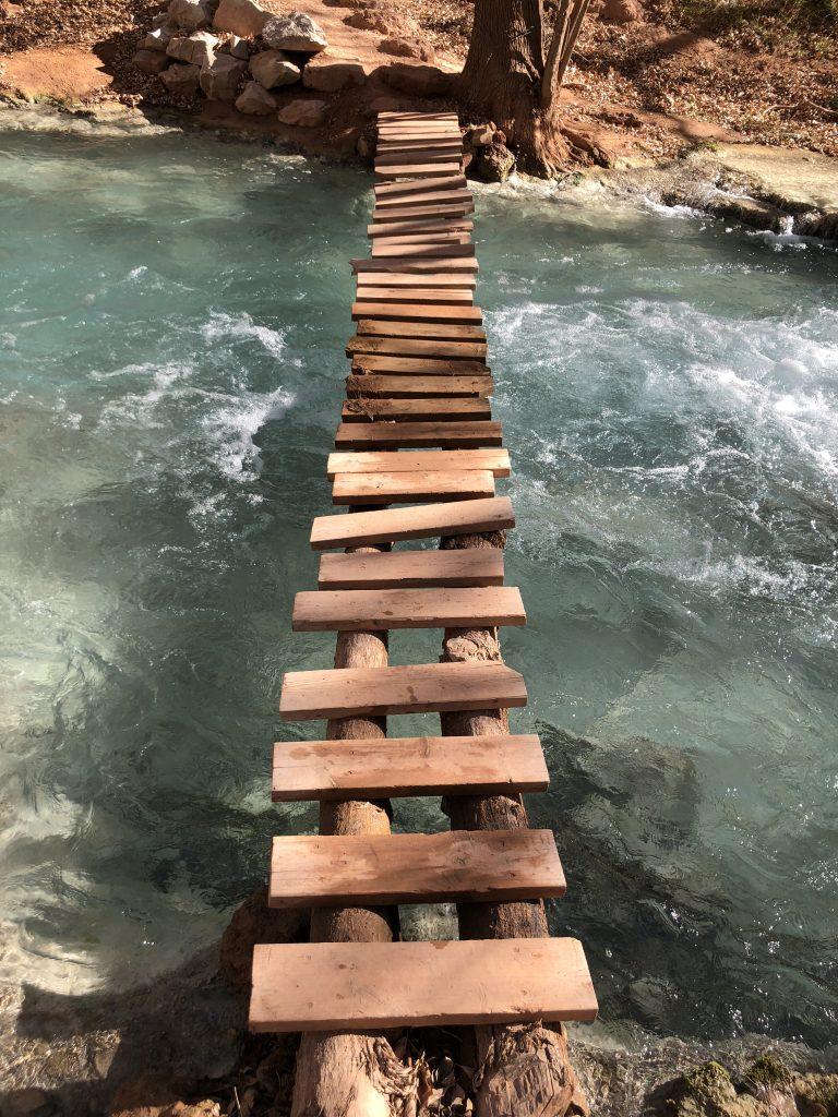 bridge over creek at Havasupai campground