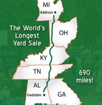 World's Longest Yard Sale Route